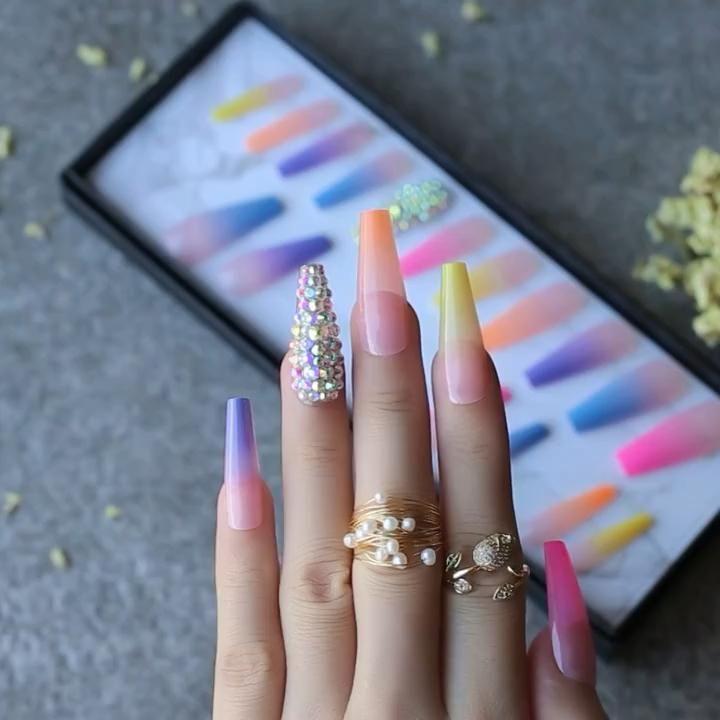 Pin by Iris frias on Uñas perfectas | Purple nail art, Purple nail designs, Nail art designs