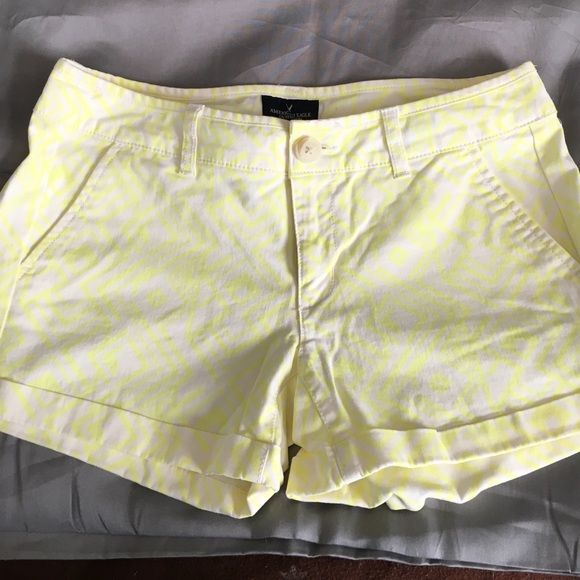 Fun American eagle shorts! Yellow patterned shorts from American Eagles worn only once! American Eagle Outfitters Shorts