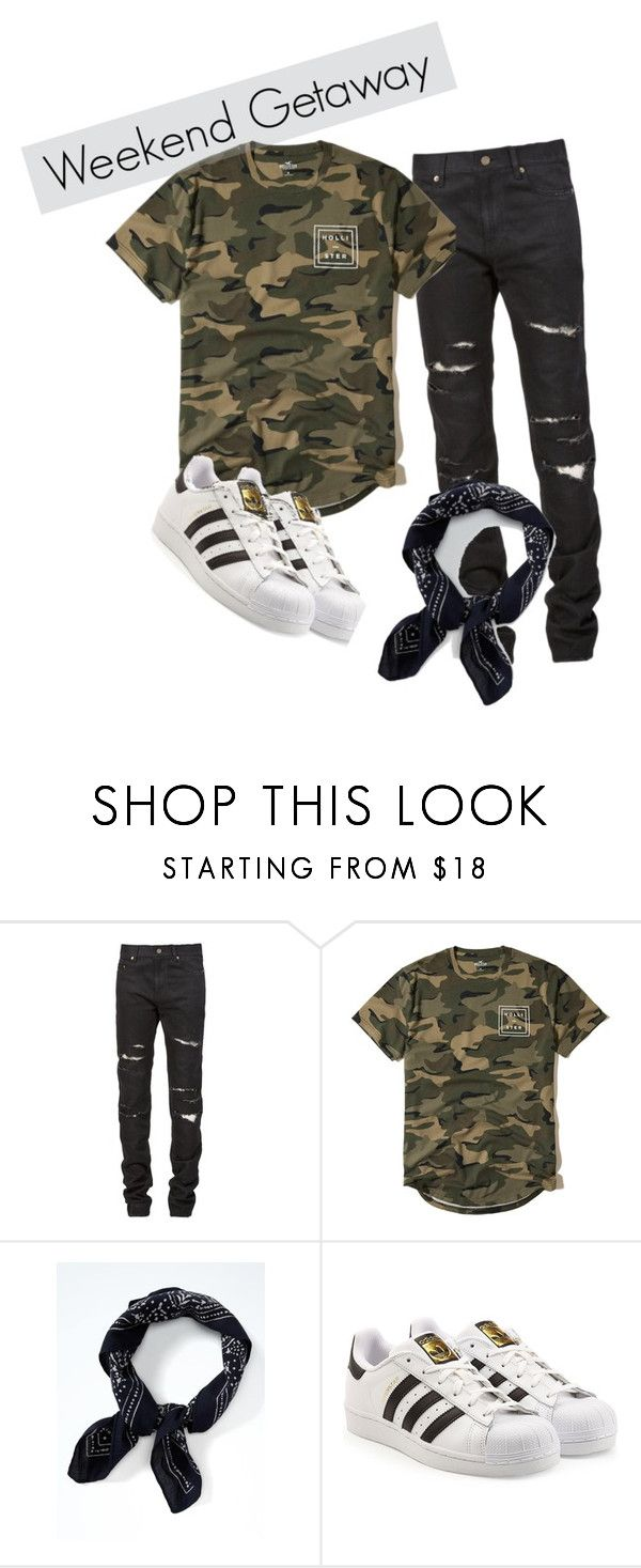 """""""Boy & Diesel's outfit TV"""" by xmagicalroses on Polyvore featuring Yves Saint Laurent, Hollister Co., Banana Republic, adidas Originals, men's fashion en menswear"""