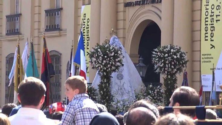 Procesión del Carmen 2013. Himno nacional