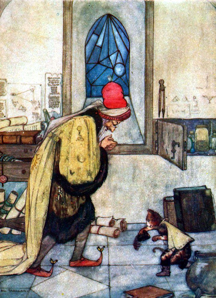 Sprookjes van Moeder de Gans illustrated by Rie Cramer. Published 1916 by Sr. W de Haan, Utrecht. De gelaarsde kat