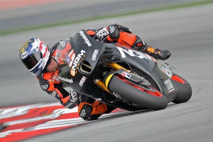 Colin Edwards MotoGP 2013 testing of his Kawasaki powered FTR.