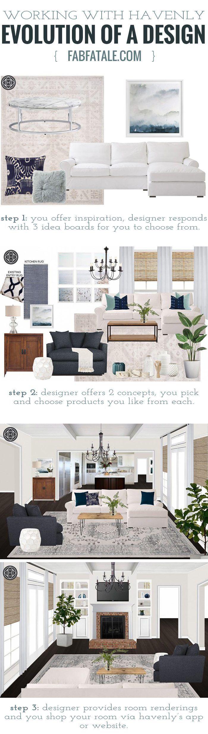Rustic Boho Living Room, Design C/o Havenly