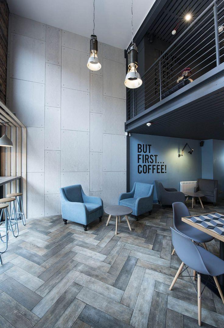 65 идей интерьера кафе – шаг навстречу общественному признанию http://happymodern.ru/interer-kafe/ Современная кофейня с антресолью