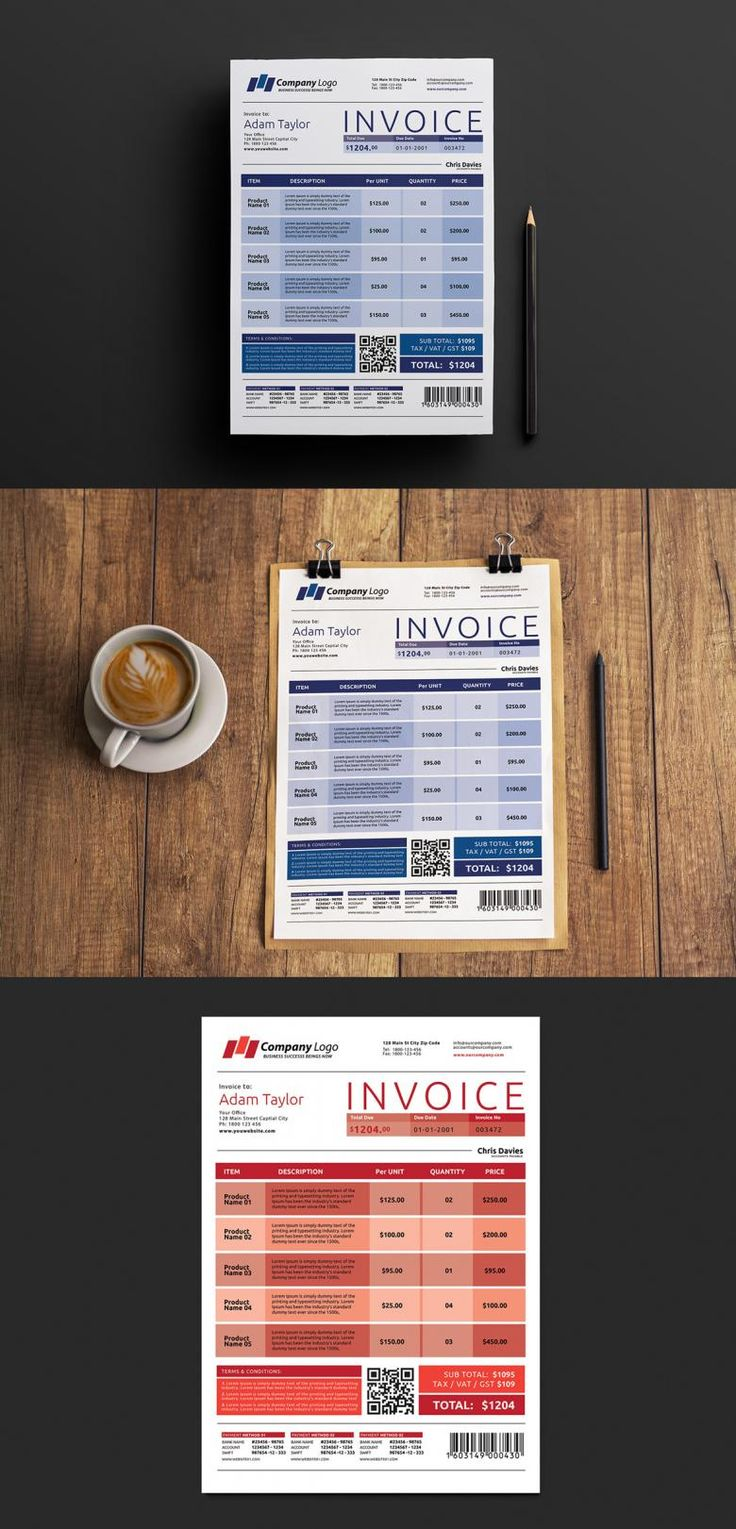 The 25 best ideas about Invoice Template – Free Invoice Forms to Print