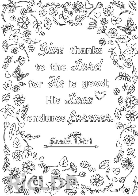 bible coloring pages thankfulness - photo#50