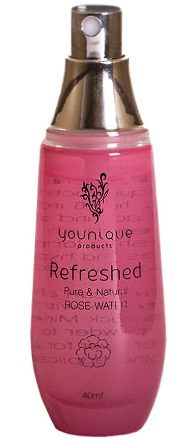 Introducing Younique Refreshed Rose Water $29 This is the perfect way to finish your look with a light rose scent. Add rose water to you mineral pigments for a creamy application! Alynn Mortensen - Younique Products
