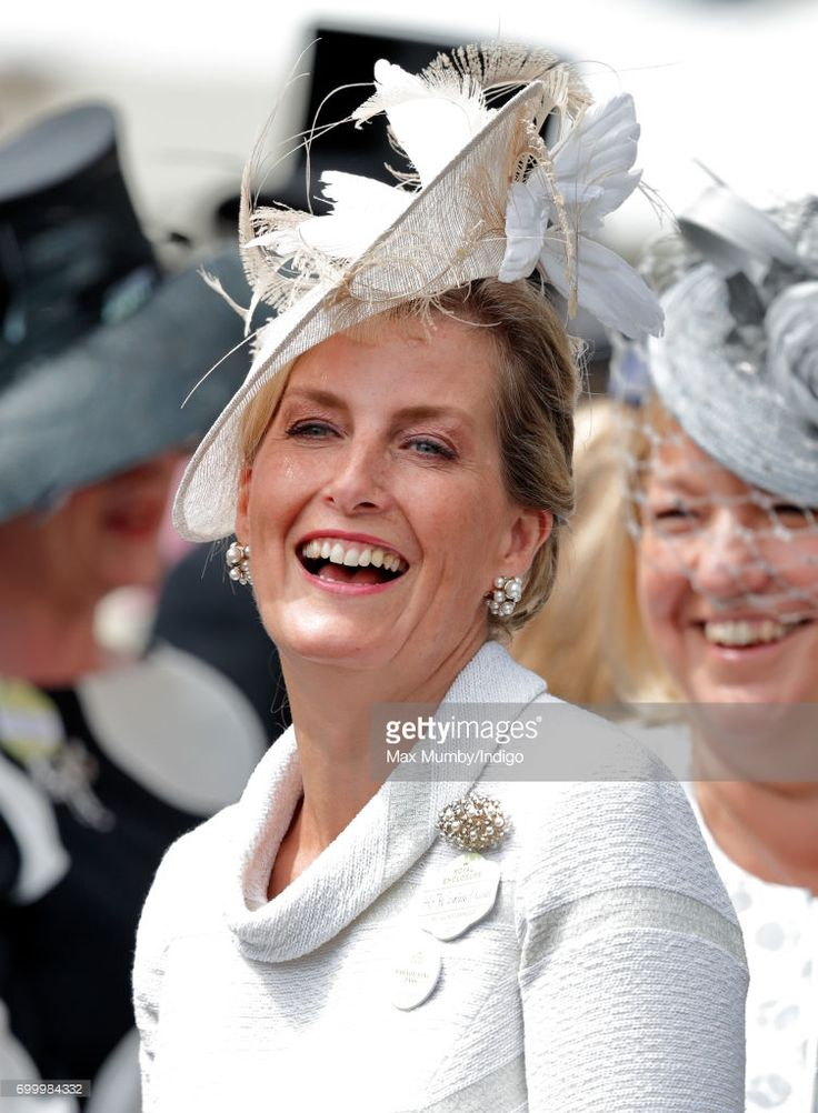 (EMBARGOED FOR PUBLICATION IN UK NEWSPAPERS UNTIL 48 HOURS AFTER CREATE DATE AND TIME) Sophie, Countess of Wessex attends day 3, Ladies Day, of Royal Ascot at Ascot Racecourse on June 22, 2017 in Ascot, England. (Photo by Max Mumby/Indigo/Getty Images)