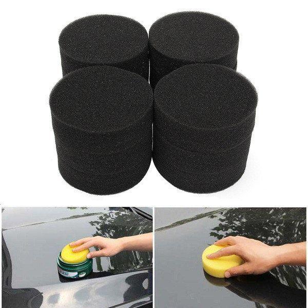 12pcs 10cm x 3cm Car Waxing Polishing Sponge Foam Grinding Soft Pads Black