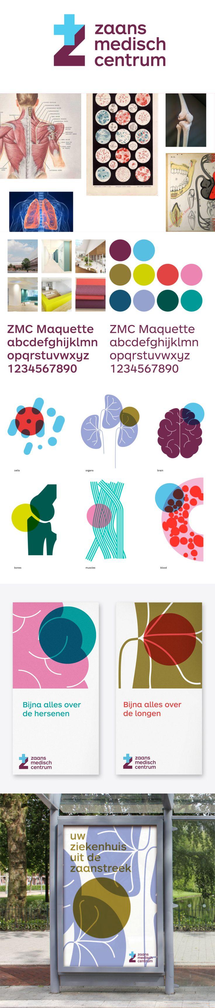 More corporate-designs are collected on: https://pinterest.com/rothenhaeusler/best-of-corporate-design/ · Agency: Silo Agency · Client: zaans medisch centrum · Source: http://www.siloagency.com/en/case/brand-identity-for-innovative-hospital/ #branding #identity #corporatedesign