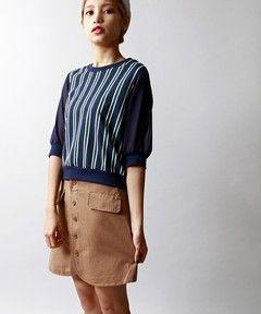 WEGO LADY'SのWEGO/前ボタンボックスミニスカート(スカート)です。こちらの商品はZOZOTOWNにて通販購入可能です。