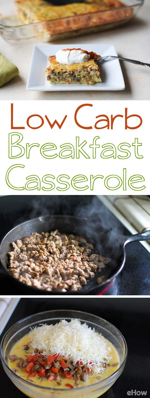 While comforting breakfast food has the reputation for being unhealthy & loaded with carbs, it's possible to create a nutritious low-carb breakfast recipe. Breakfast casseroles (similar to a frittata) are easy to bake, feed plenty of people, and are a great go-to for those times you're looking for something filling that won't put you in a food coma. While bell pepper, onion & mushrooms, make this meal flavorful, you can also substitute in any of your favorite vegetables, and bacon and ham.