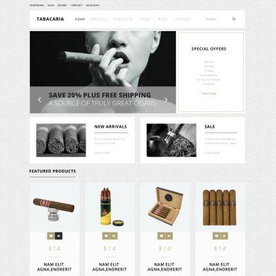Tobacco Shop Bootstrap WooCommerce Theme