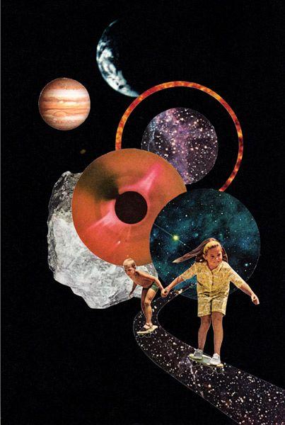 Los collages espaciales de Miles Donovan