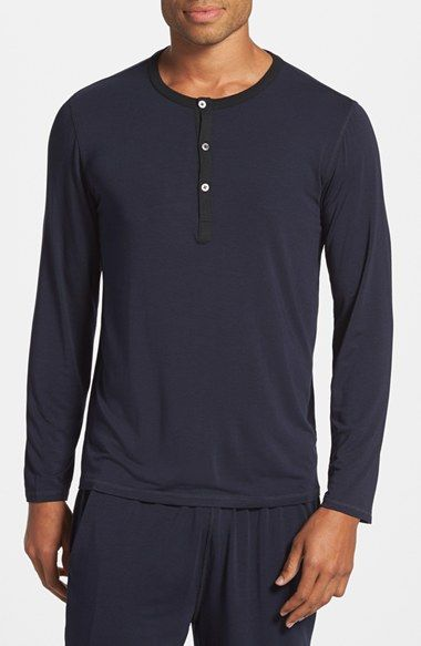 Free shipping and returns on Daniel Buchler Modal & Silk Stretch Long Sleeve Henley at Nordstrom.com. A stretchy blend of modal and silk ensures optimum comfort in a long-sleeve henley that will make it hard to get off the couch.