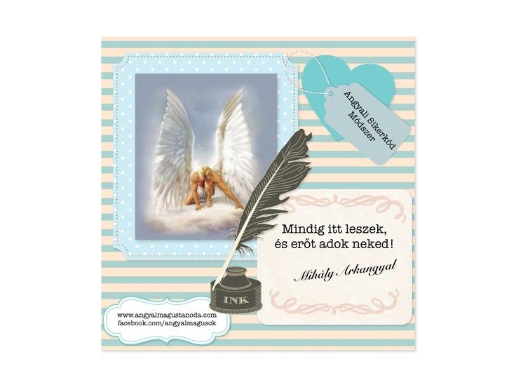 Ezt a kis üdvözlőkártyát is beletesszük az Angyali Sikerkód Módszer csomagjaiba. :)