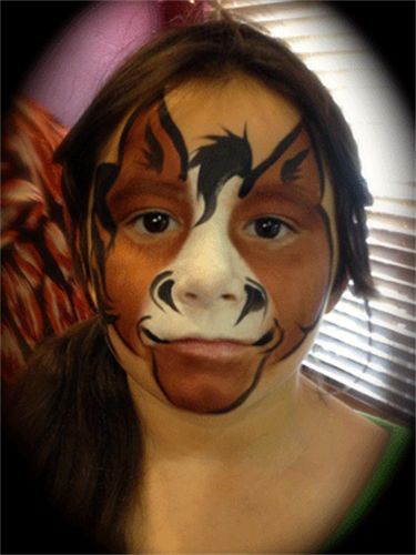 Pin By Laura Rusin On Face Painting Horse Paint Animal Paintings