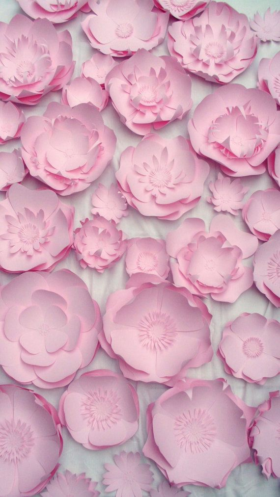 50 large paper flowers by hyp1ro on Etsy