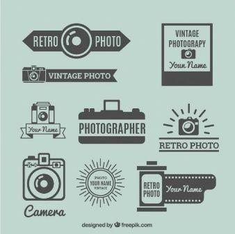 レトロな写真のロゴパック