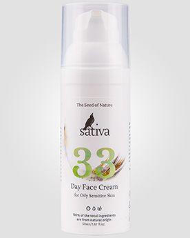 Sativa Дневной крем для лица №33 для жирного чувствительного типа кожи | Интернет-магазин профессиональной косметики для волос от ведущих мировых брендов shampoosik.ru 7 495 77-44-99-0
