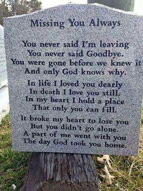 Missing you always...