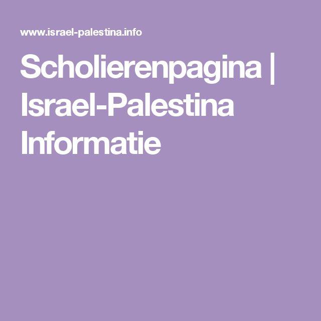 Scholierenpagina   Israel-Palestina Informatie