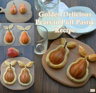 The Homestead Survival | Golden Delicious Pears in Puff Pastry | Recipe - http://thehomesteadsurvival.com