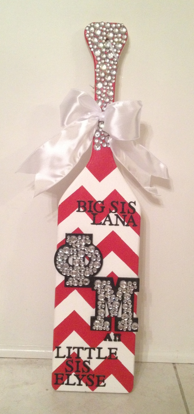 Love the paddle I made for my Big! #phimu #chevron