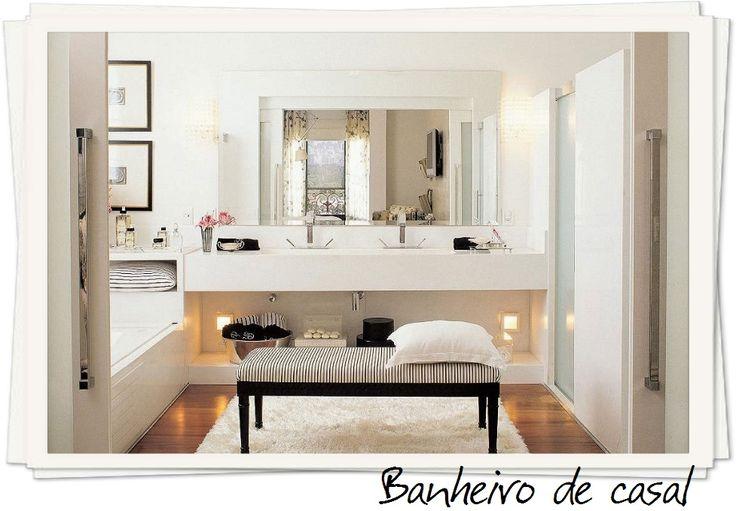 Ideias de decoração para banheiro de casal  Decor -> Decoracao De Banheiro Pq