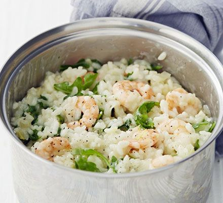 Prawn,fennel and rocket risotto