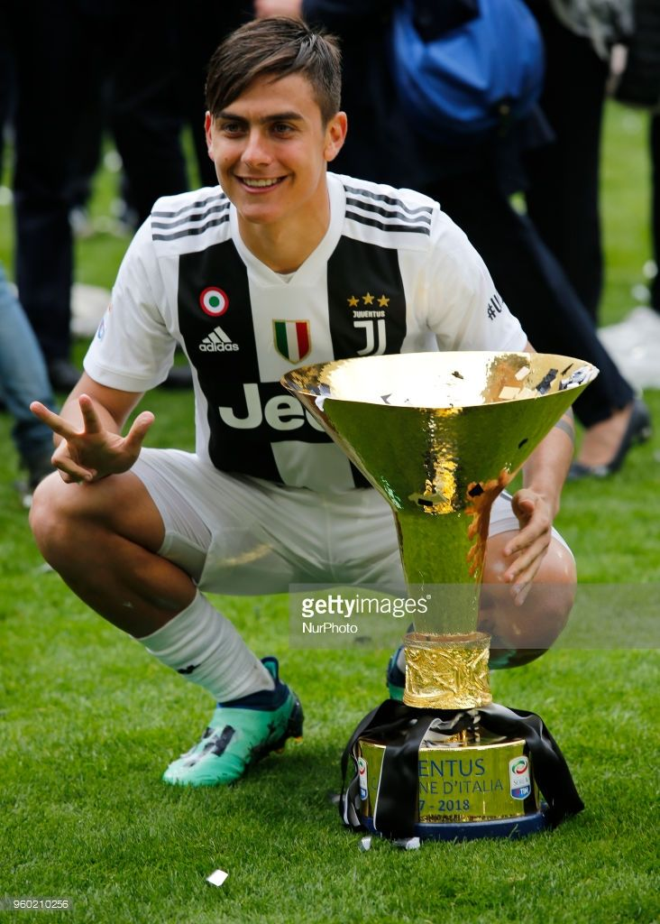 Paulo Dybala during serie A match between Juventus v Verona, in Turin, on May 19, 2018 (Photo by Loris Roselli/NurPhoto via Getty Images).