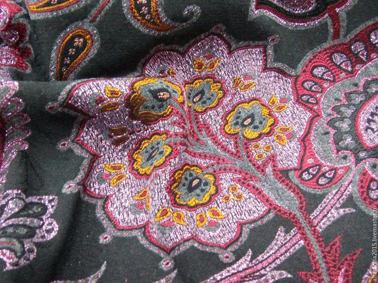 """Купить Жаккард """"Райские цветы"""", 2 цвета, ткань Италия - комбинированный, альта мода, от кутюр"""