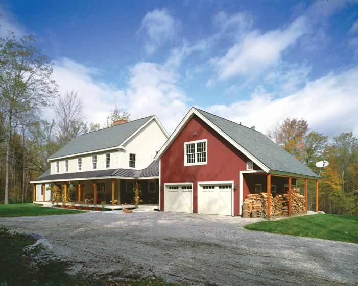 1000 images about house with red barn garage on pinterest for Red barn prefab