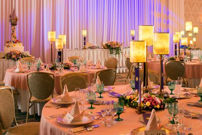 Tangled Themed Wedding! Lanterns and the tower and beautiful pastels! <3 (Tokyo Disneyland)