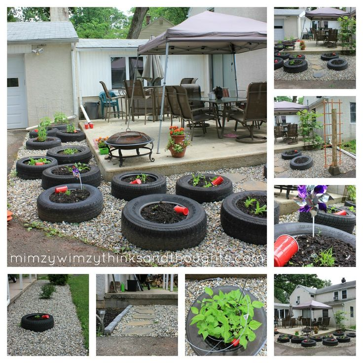 used tires for raised beds~ I like the idea of letting the ...
