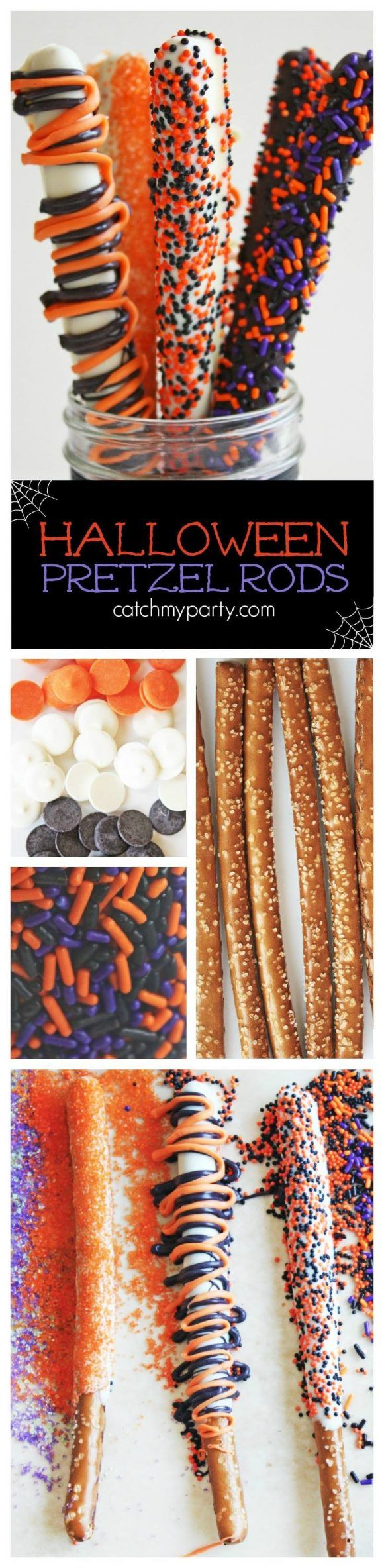Halloween Pretzel Rods                                                                                                                                                                                 More
