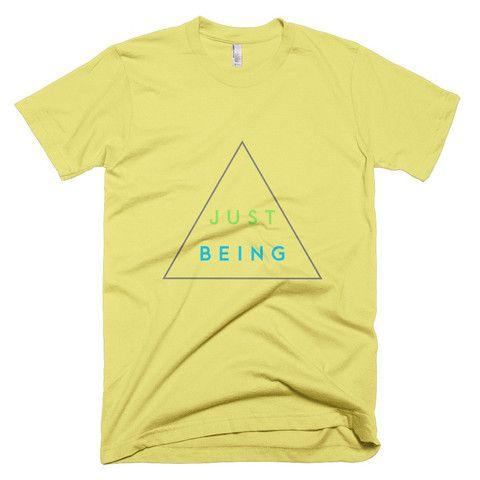 Inspire Goods Just Being Men Short Sleeve T-Shirt - Yellow