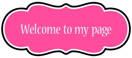 Welcome to my page LOGO * Create Custom Welcome to my page logo * Invitation STYLE *