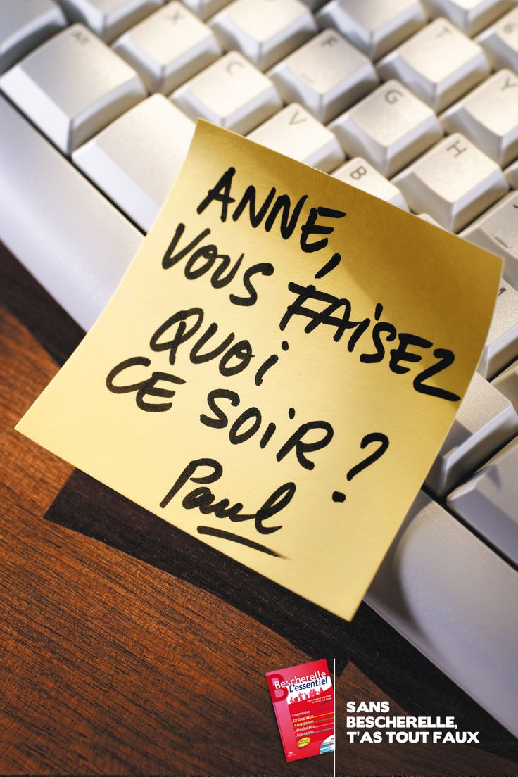 #Bescherelle #Publicité