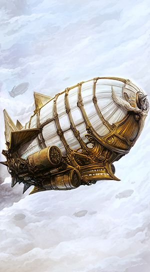 Steampunk Airship (Metallic Paper)