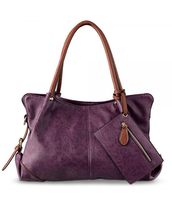 Women s Bags, Satchels, Women Hobo Purse 3 Pieces Handbag Set PU Leather  Tote Bag Satchel Shoulder Bags with Wristlet Wallet - Purple - CH12EYGME0L   Women ... a3a28f7dee