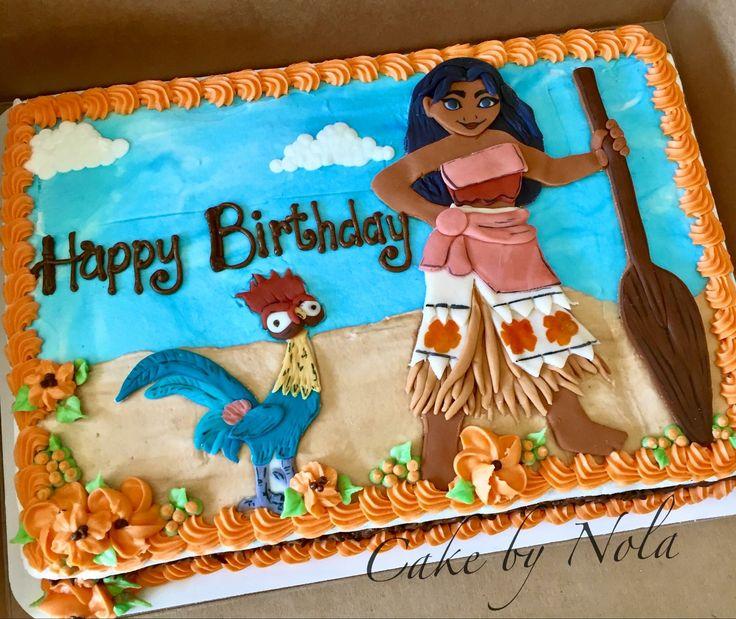 Hawaiian Themed Birthday Sheet Cake