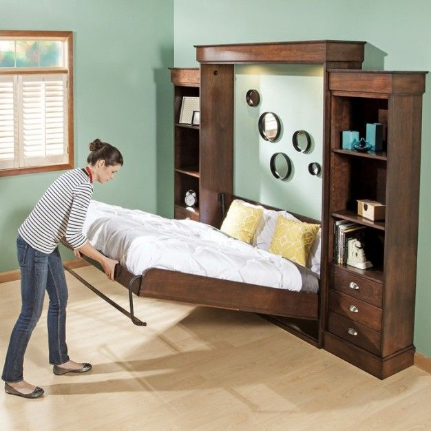 modern murphy beds small living save space with king queen murphy bed - Modern Murphy Bed