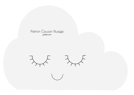 DIY patron fabriquer coussin nuage patron gratuit à télécharger