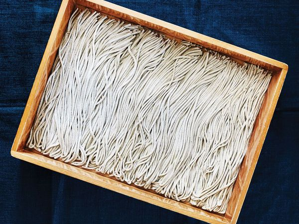 Fresh buckwheat noodles are a staple of Japanese cuisine, second only to rice as the most consumed grain in that country.