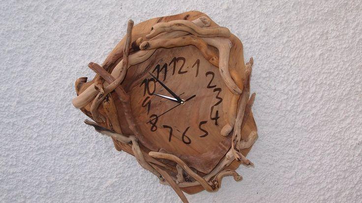 driftwood clocks / ρολόγια από θαλασσόξυλα