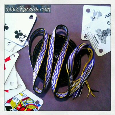 """…and my 6th tablet woven band is finished :D - """"Hienoja koukkupolvia pienomenaisten kanssa"""" / """"Fine crooked knees with small applesies""""-  Read more: http://www.racaire.com/2017/05/16/6th-tablet-woven-band-finished/"""
