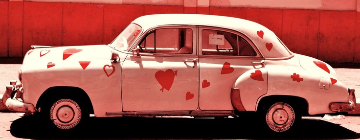 How much do you love your car? Enough to paint hearts all