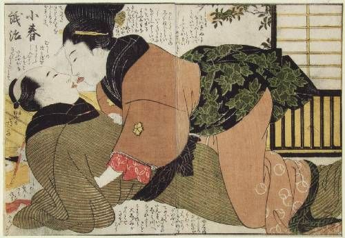 Ukiyo-e Gallery the kiss