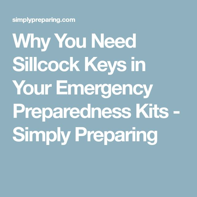 Why You Need Sillcock Keys in Your Emergency Preparedness Kits - Simply Preparing